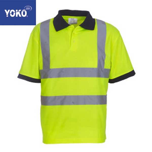Yoko Hi-Vis Short Sleeve Polo Shirt