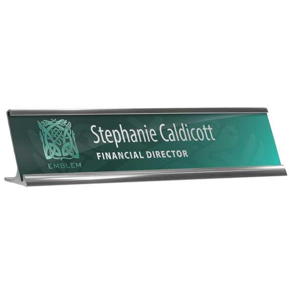 Reusable Desk Nameplate Holder & Insert