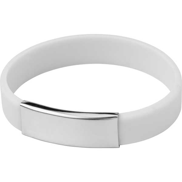 Silicone Wristband with Metal Name Plate