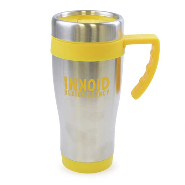 Colour Trim Stainless Steel Travel Mug