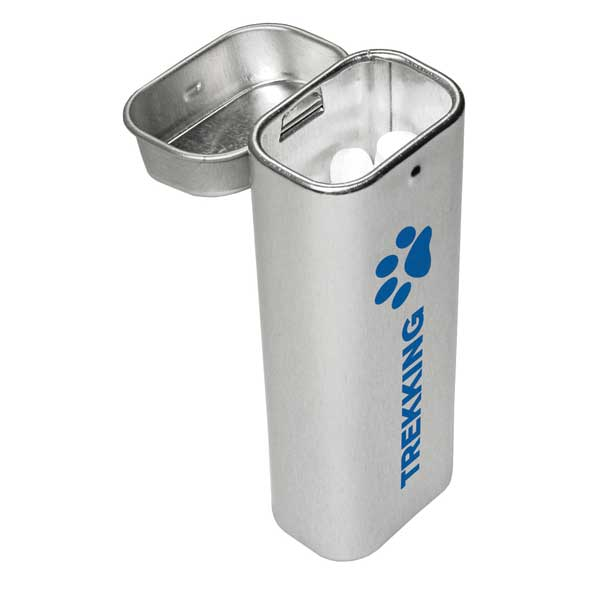 Silver Tower Tin Filled With Mints