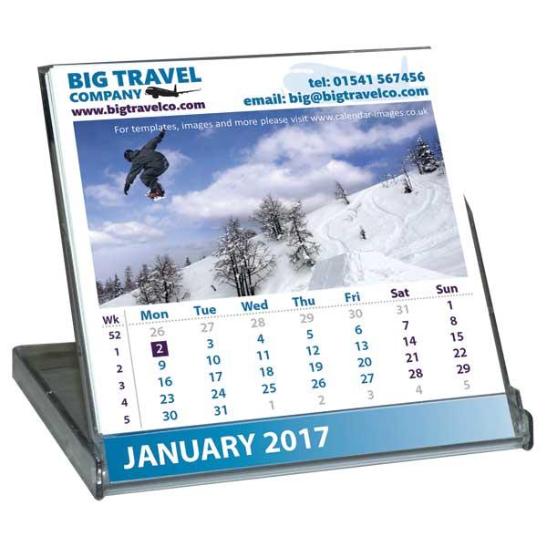 Mini Case Desk Calendar