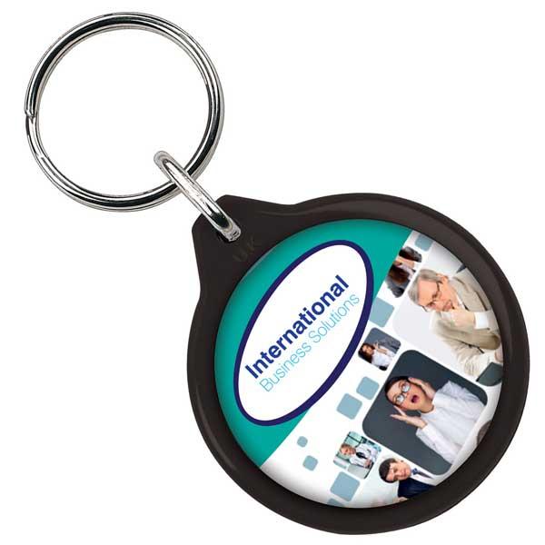 Round Plastic Key Ring