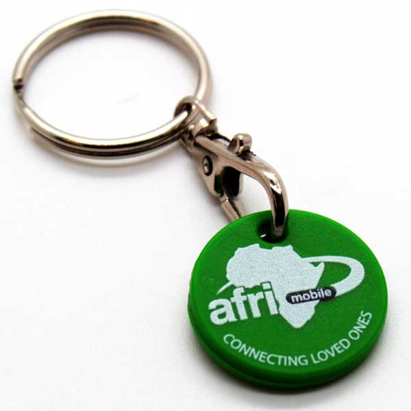 Plastic Trolley Coin Key Ring