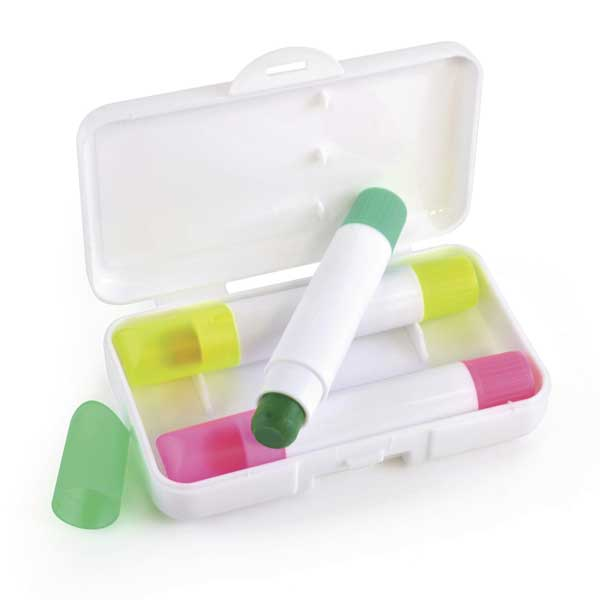 Wax Crayon Highlighter Set