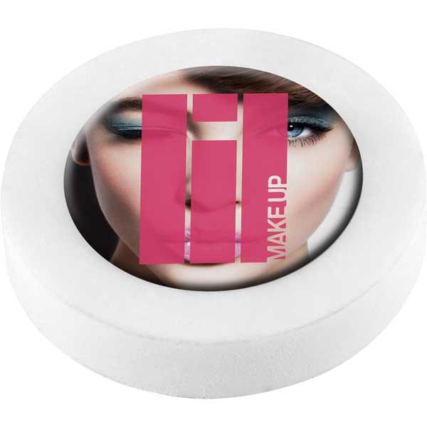 Circular Eraser with Plastic Insert - Full Colour