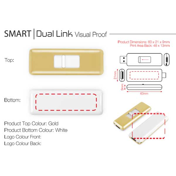 Dual Link USB Flash Drive