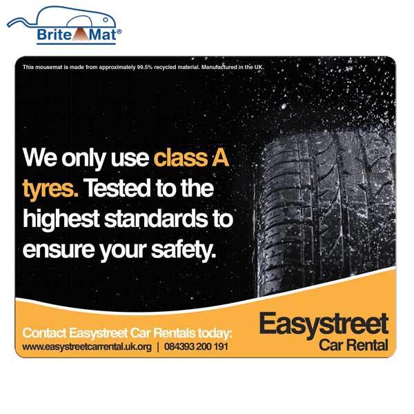 Tyre Brite-Mat Rectangular Mouse Mat - Full Colour