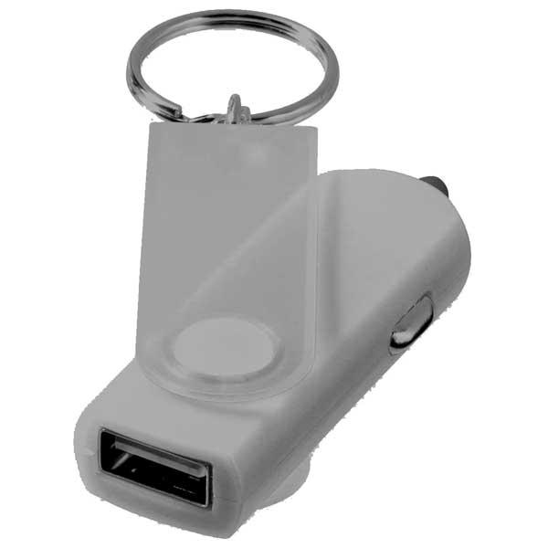 Swivel Car Adapter Key Chain