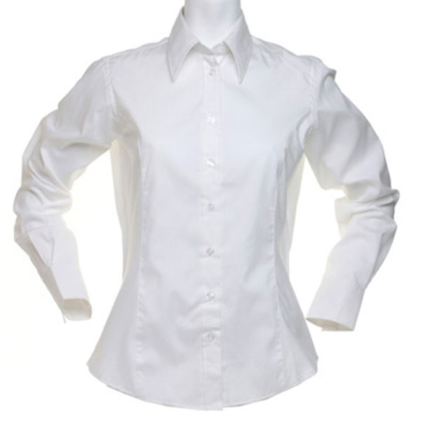 Kustom Kit Ladies Long Sleeve Corporate Oxford Shirt