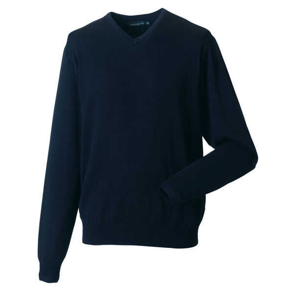 Russell Collection V-Neck Knitted Sweatshirt