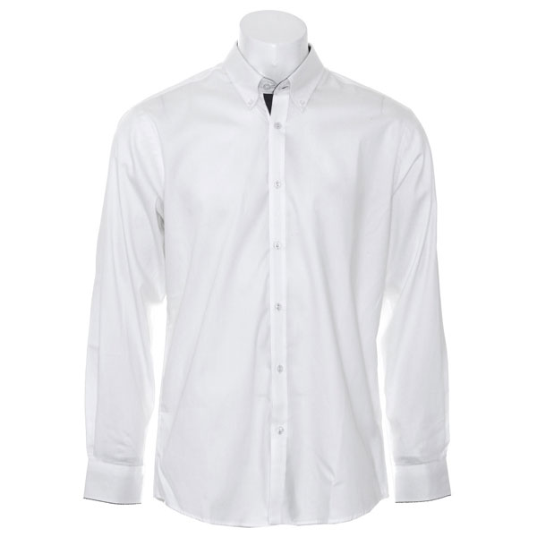 Kustom Kit Contrast Premium Oxford Shirt