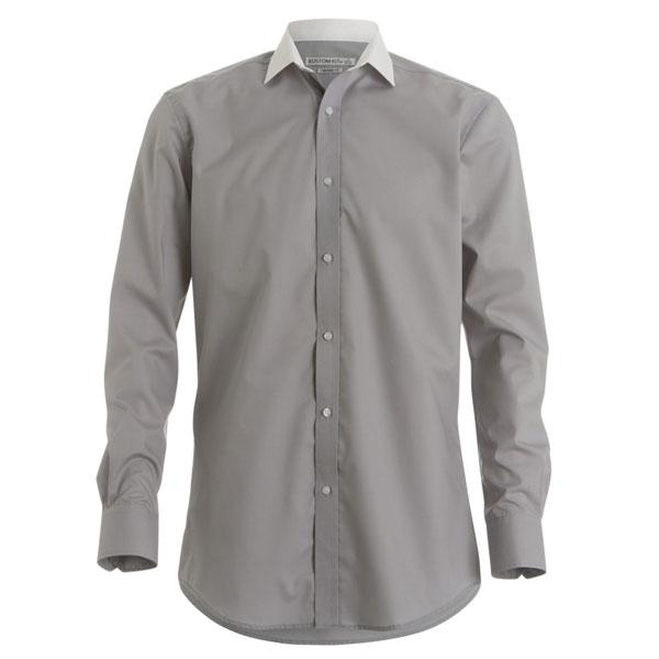 Kustom Kit Mens Long Sleeve Contrast Shirt