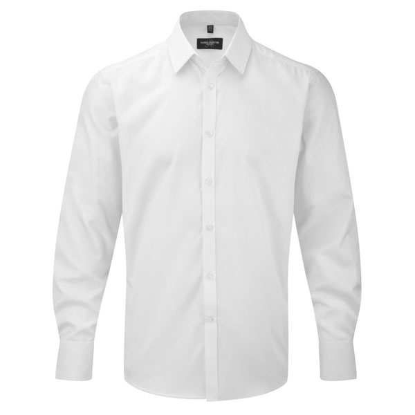 Russell Collection Mens Herringbone Shirt
