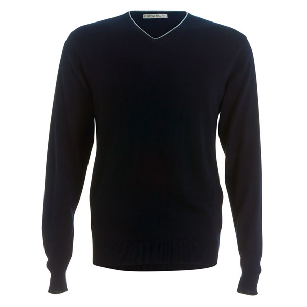 Kustom Kit Contrast Long Sleeve Sweater