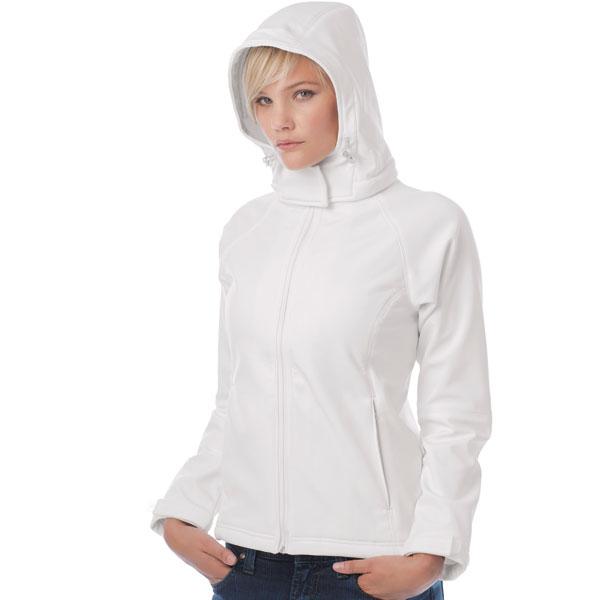 B&C Womens Hooded Softshell
