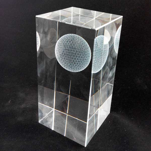Crystal Cube Golf Award