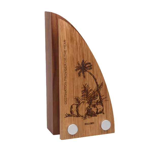 Wood Block Award with Wooden Faceplate