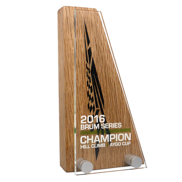 Wood Block Award with Acrylic Faceplate