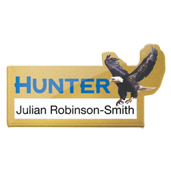 Acrylic Name Window Badge