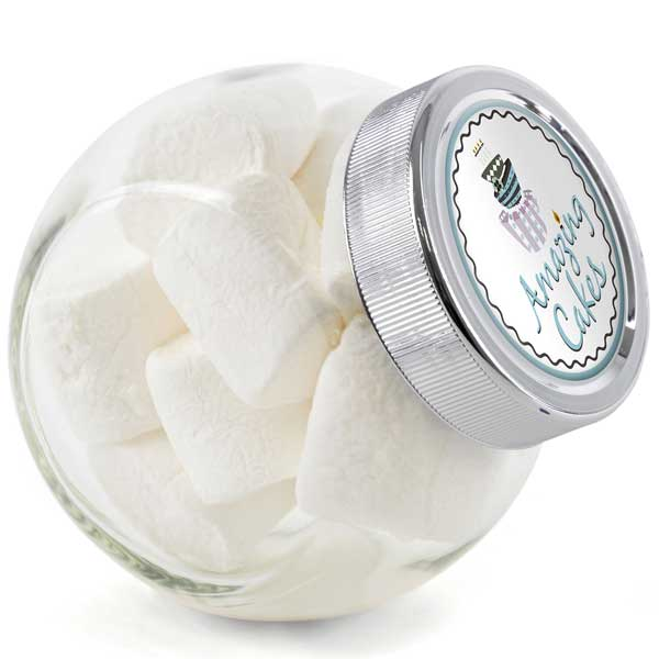 Small Glass Jar of Marshmallows