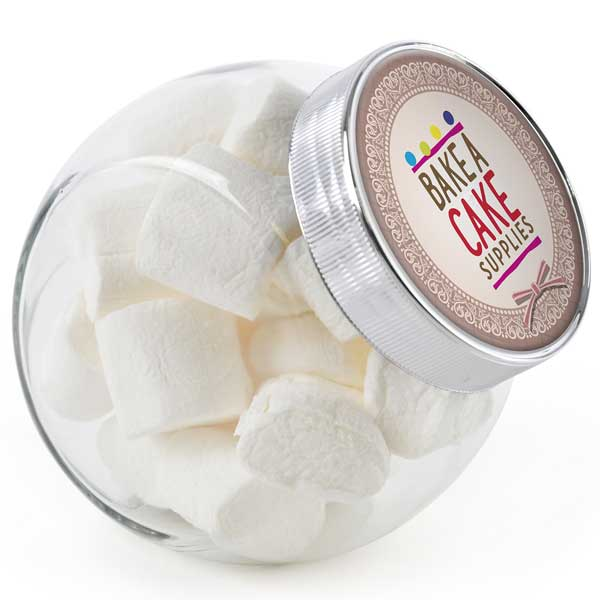 Medium Glass Jar of Marshmallows