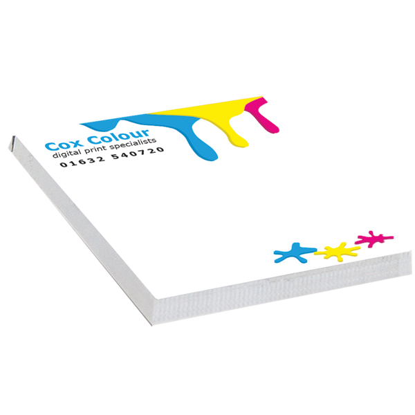 Full Colour Square NoteStix Adhesive Pads 75 x 75mm
