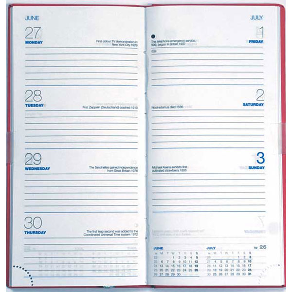 Castelli Colombia Weekly Portrait Pocket Diary