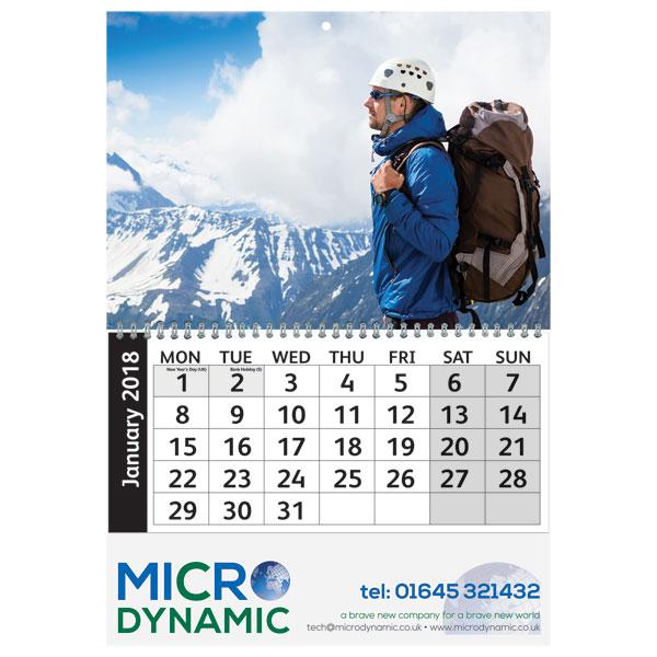 A4 Value Wall Calendar