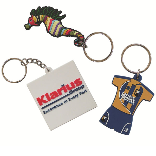 30mm Moulded Soft PVC Key Ring