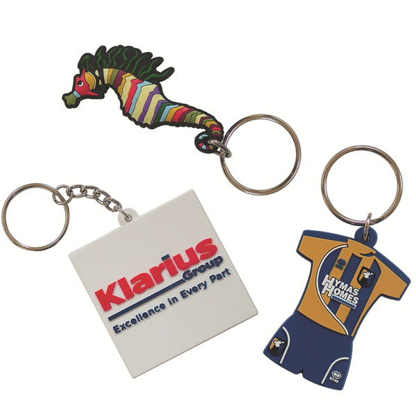 75mm Moulded Soft PVC Key Ring