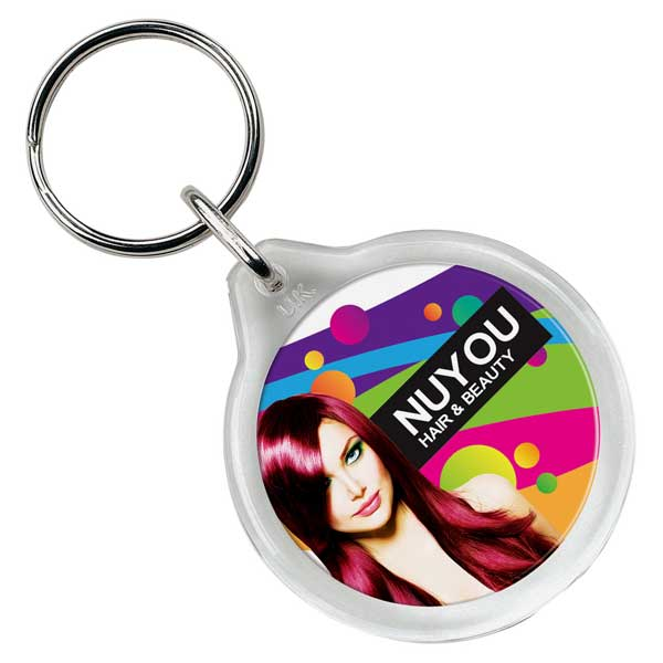 Adview Round Plastic Key Ring
