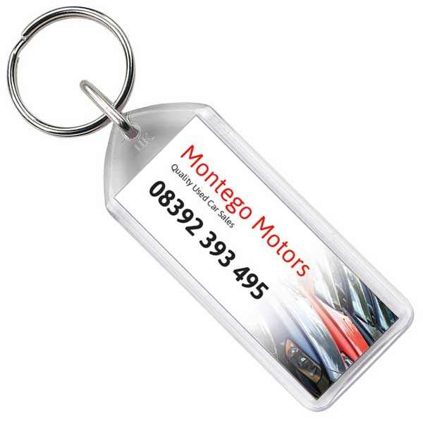 Adview Oblong Plastic Key Ring