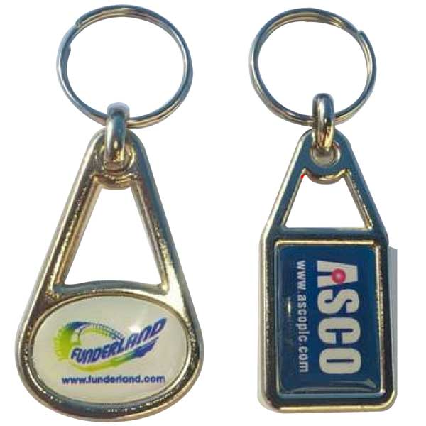 Metal Domed Key Fob