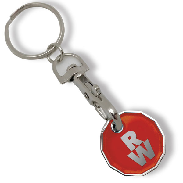 Stamped Trolley Coin Key Ring