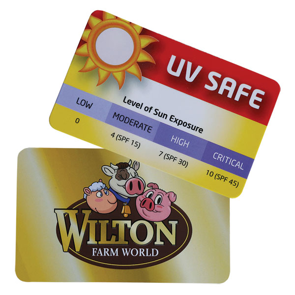 UV Strength Sun Gauge Card