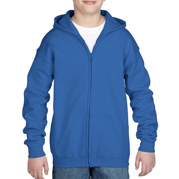Gildan Childrens Zipped Ho..