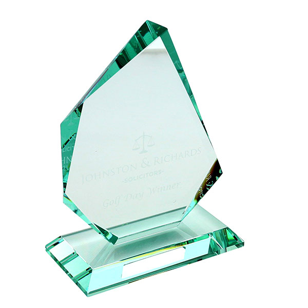 Jade Glass Faceted Ice Pea..