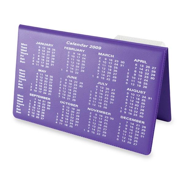 Vinyl Desk Easel Calendar
