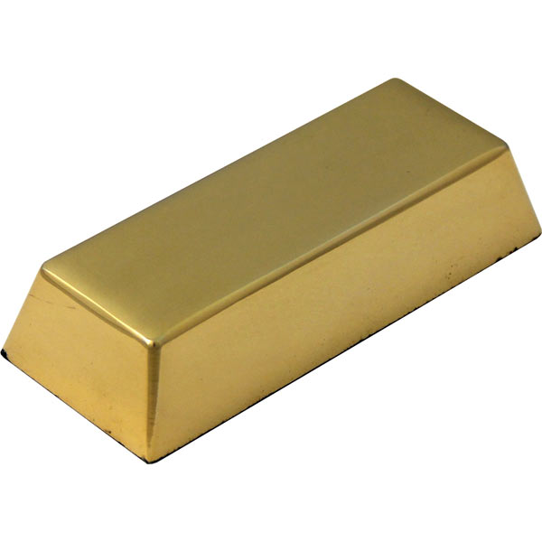 Solid Ingot Desk Paperweight in Gold Finish